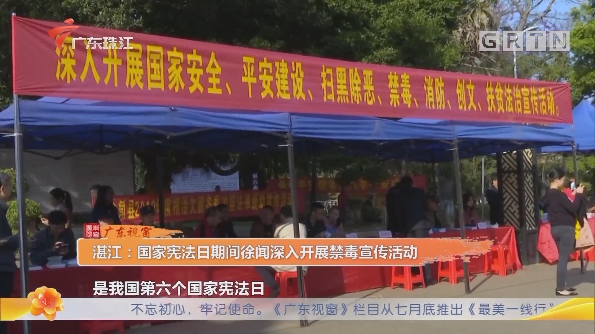 湛江:国家宪法日期间徐闻深入开展禁毒宣传活动