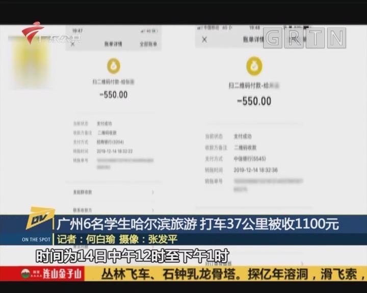 (DV现场)广州6名学生哈尔滨旅游 打车37公里被收1100元