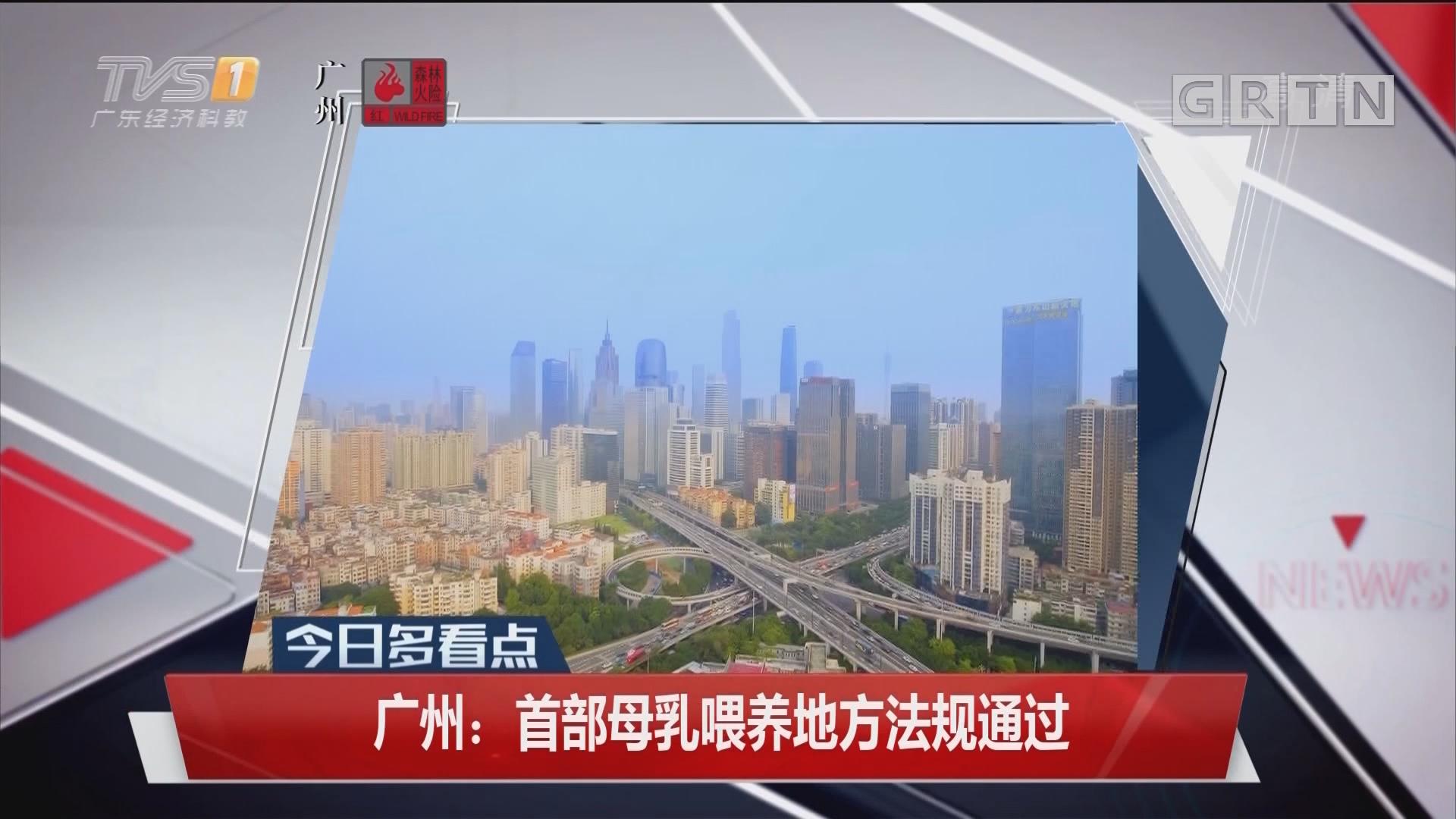广州:首部母乳喂养地方法规通过