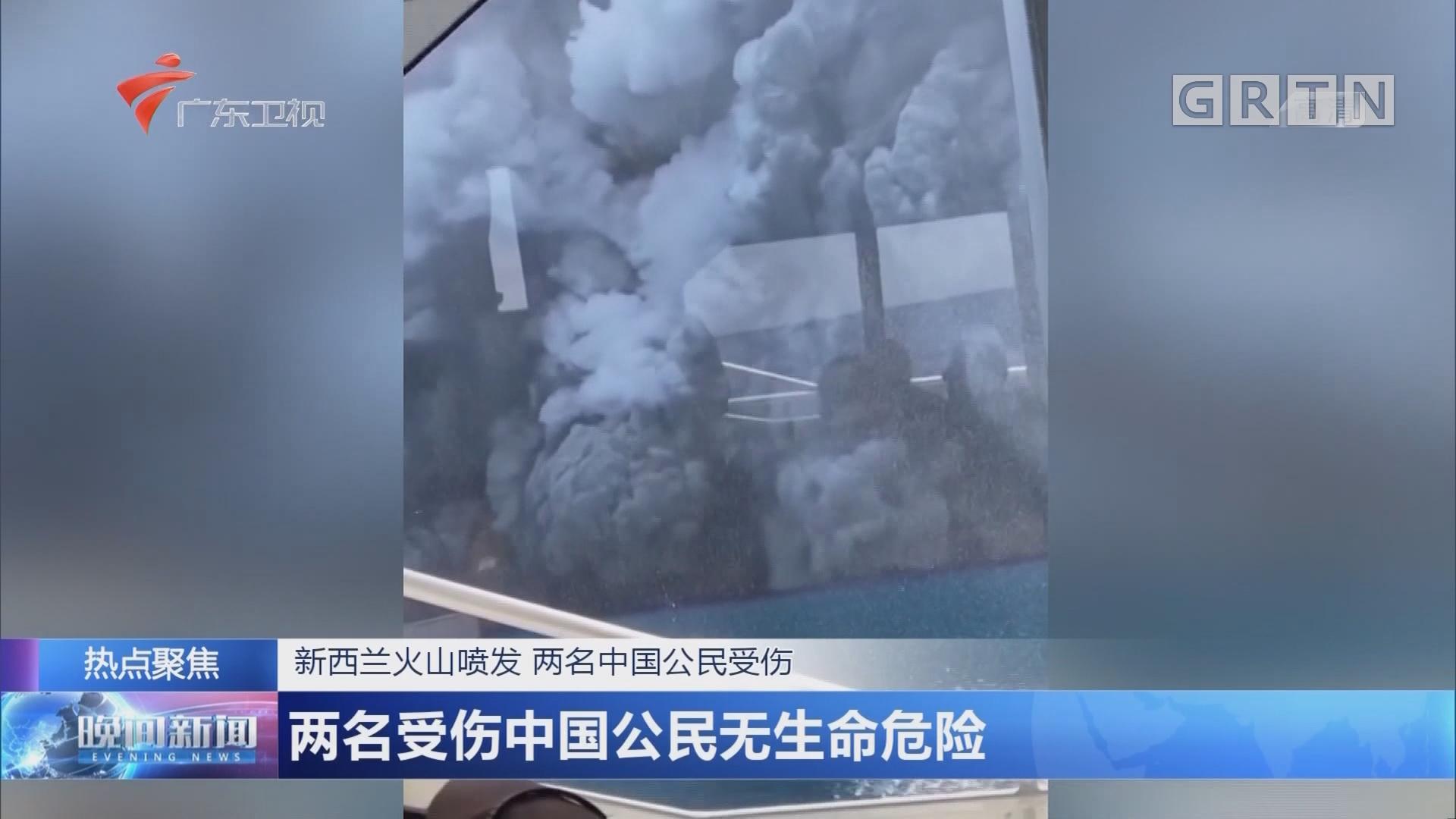 新西兰火山喷发 两名中国公民受伤 两名受伤中国公民无生命危险