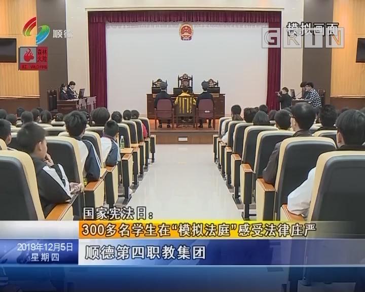 """国家宪法日:300多名学生在""""模拟法庭""""感受法律庄严"""
