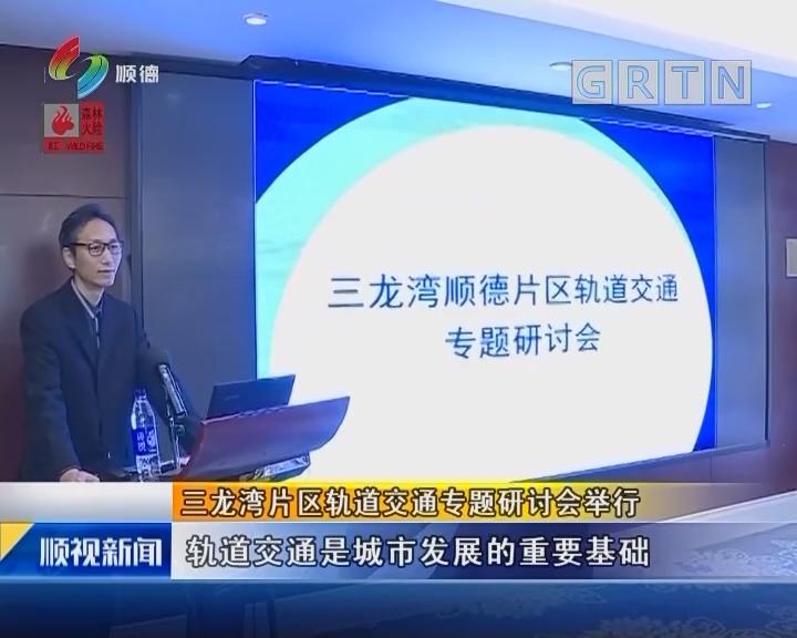 三龙湾片区轨道交通专题研讨会举行