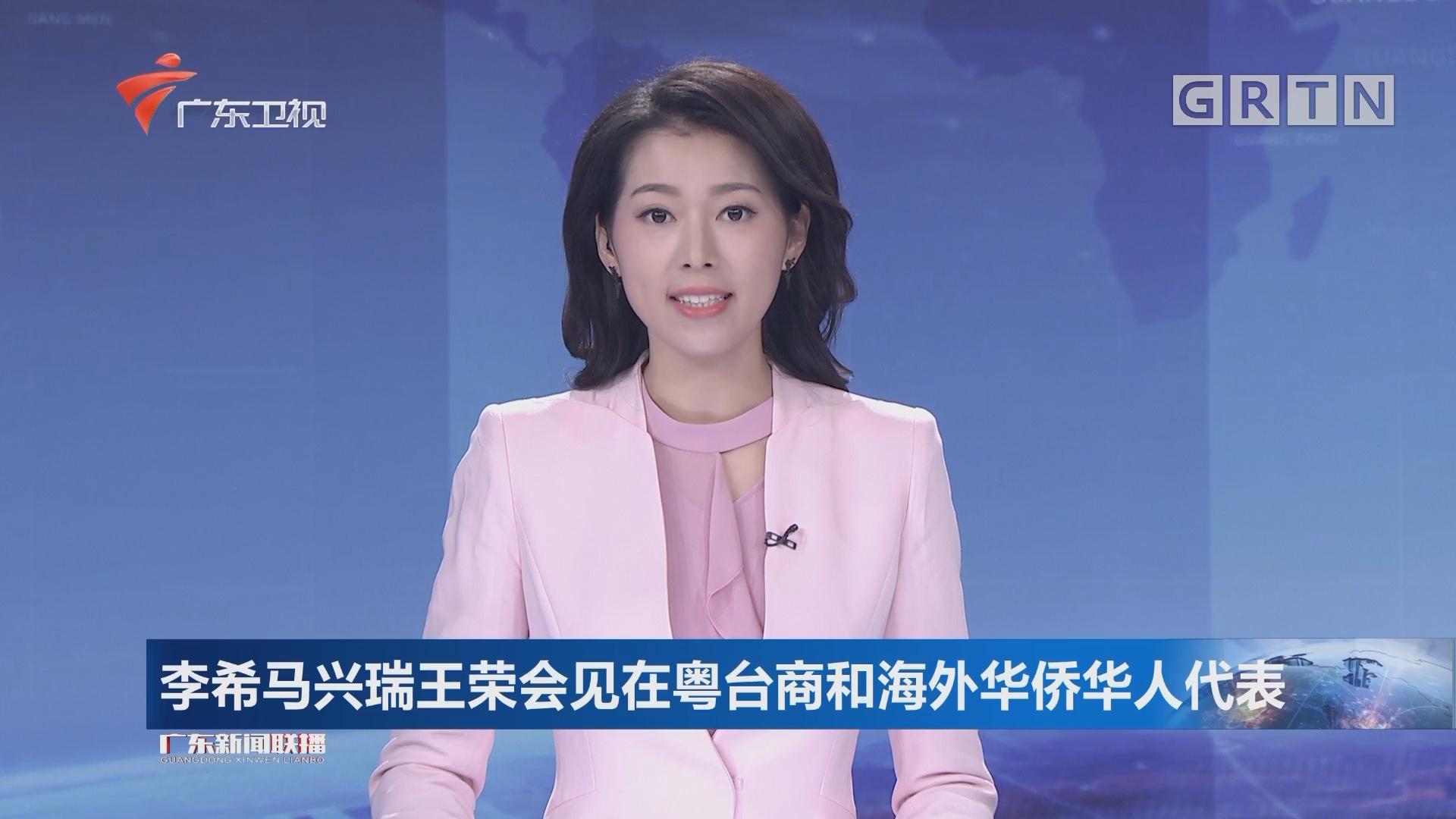 李希马兴瑞王荣会见在粤台商和海外华侨华人代表