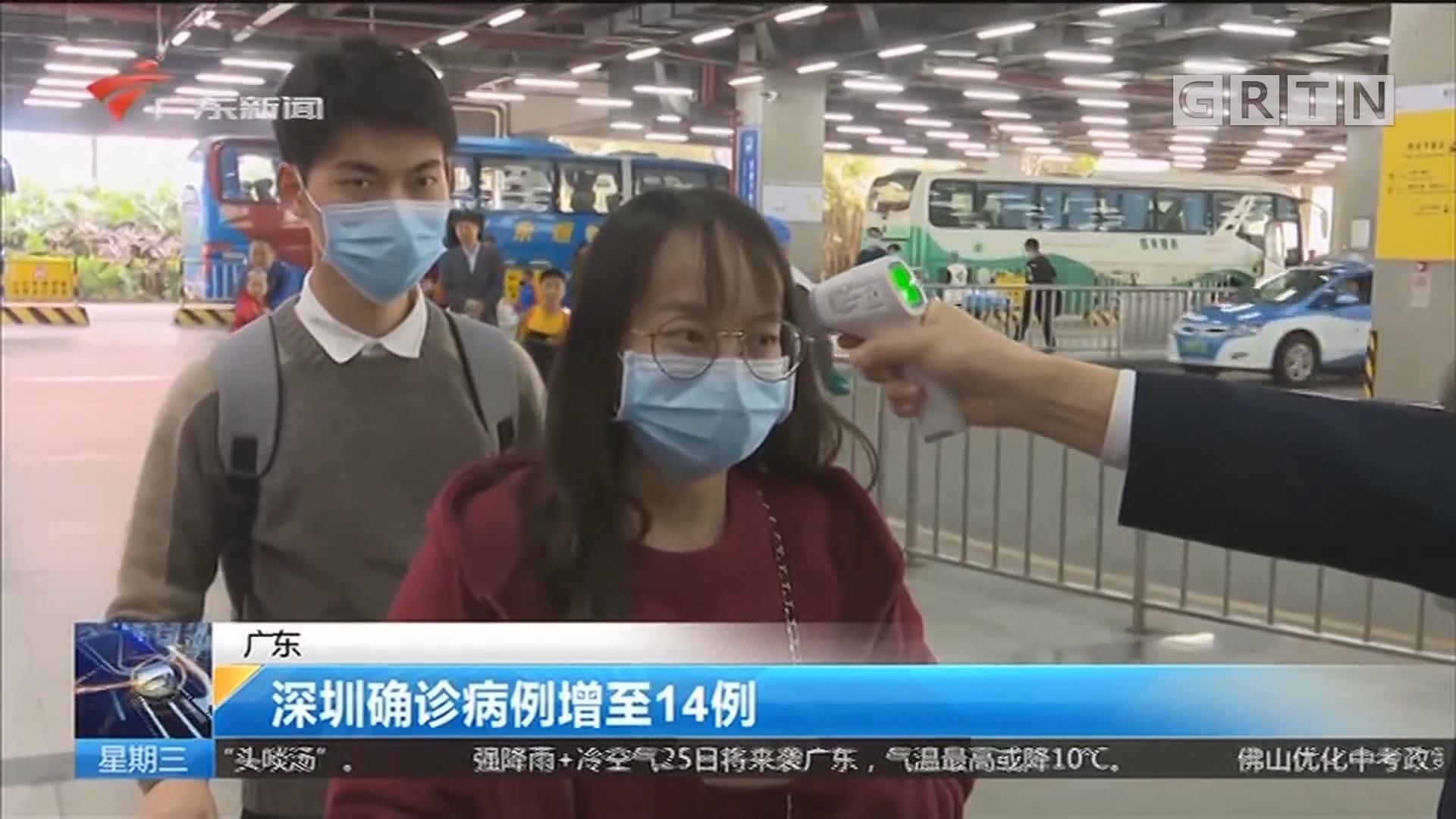 广东 深圳确诊病例增至14例