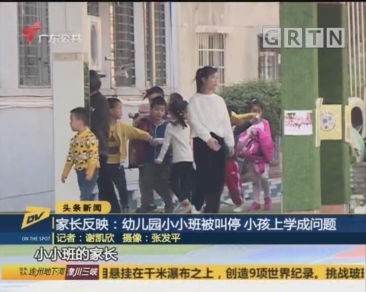 (DV现场)家长反映:幼儿园小小班被叫停 小孩上学成问题