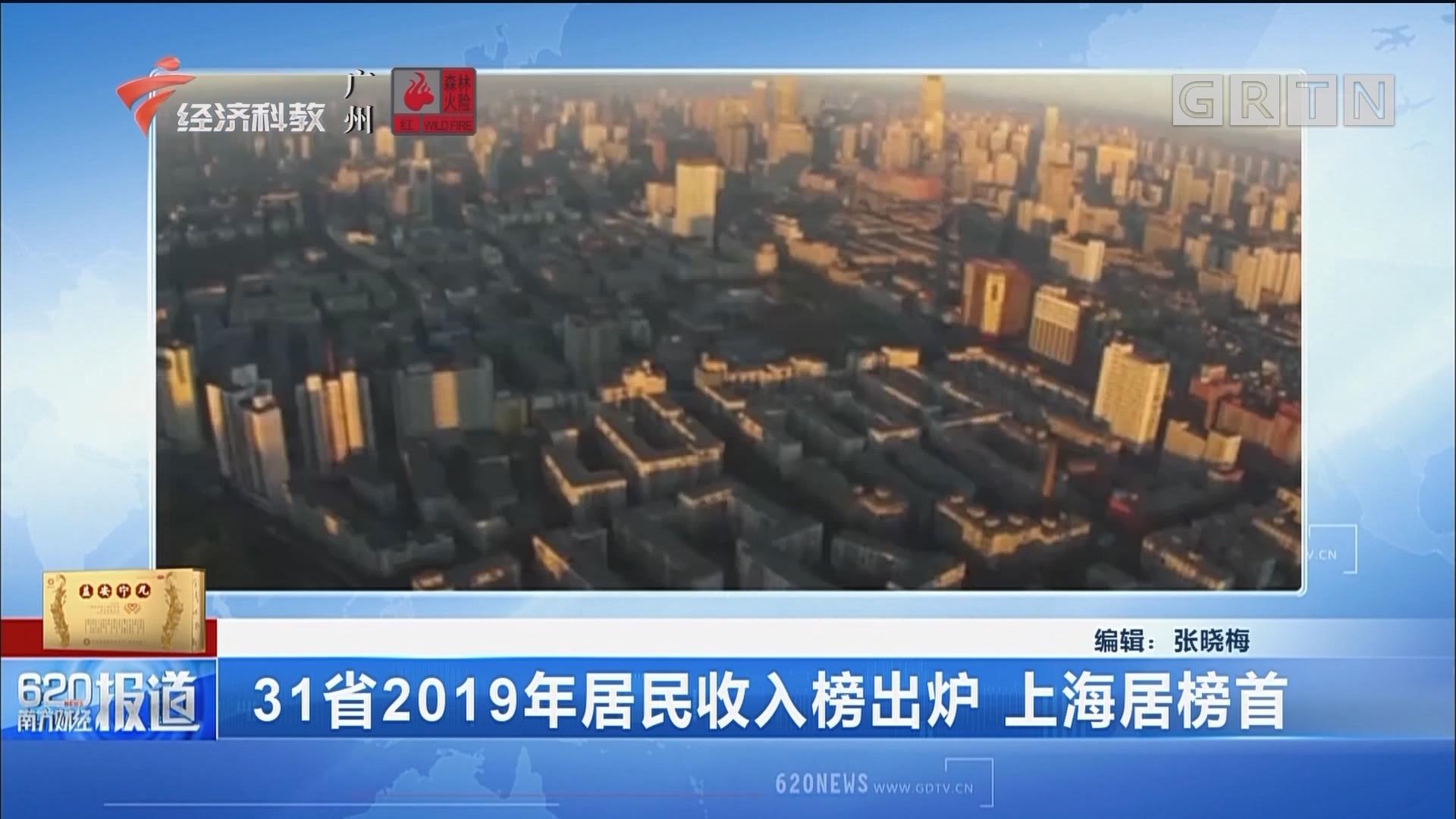 31省2019年居民收入榜出炉 上海居榜首
