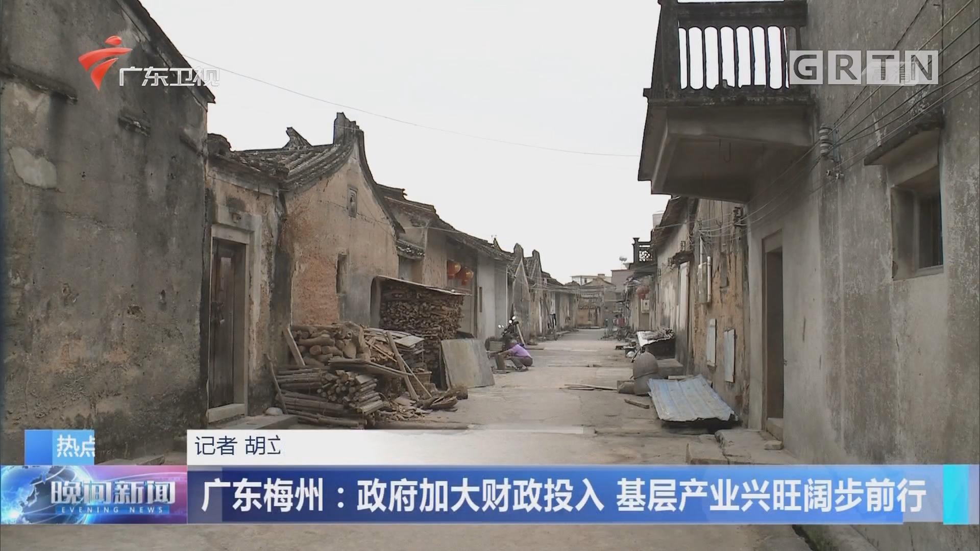 广东梅州:政府加大财政投入 基层产业兴旺阔步前行