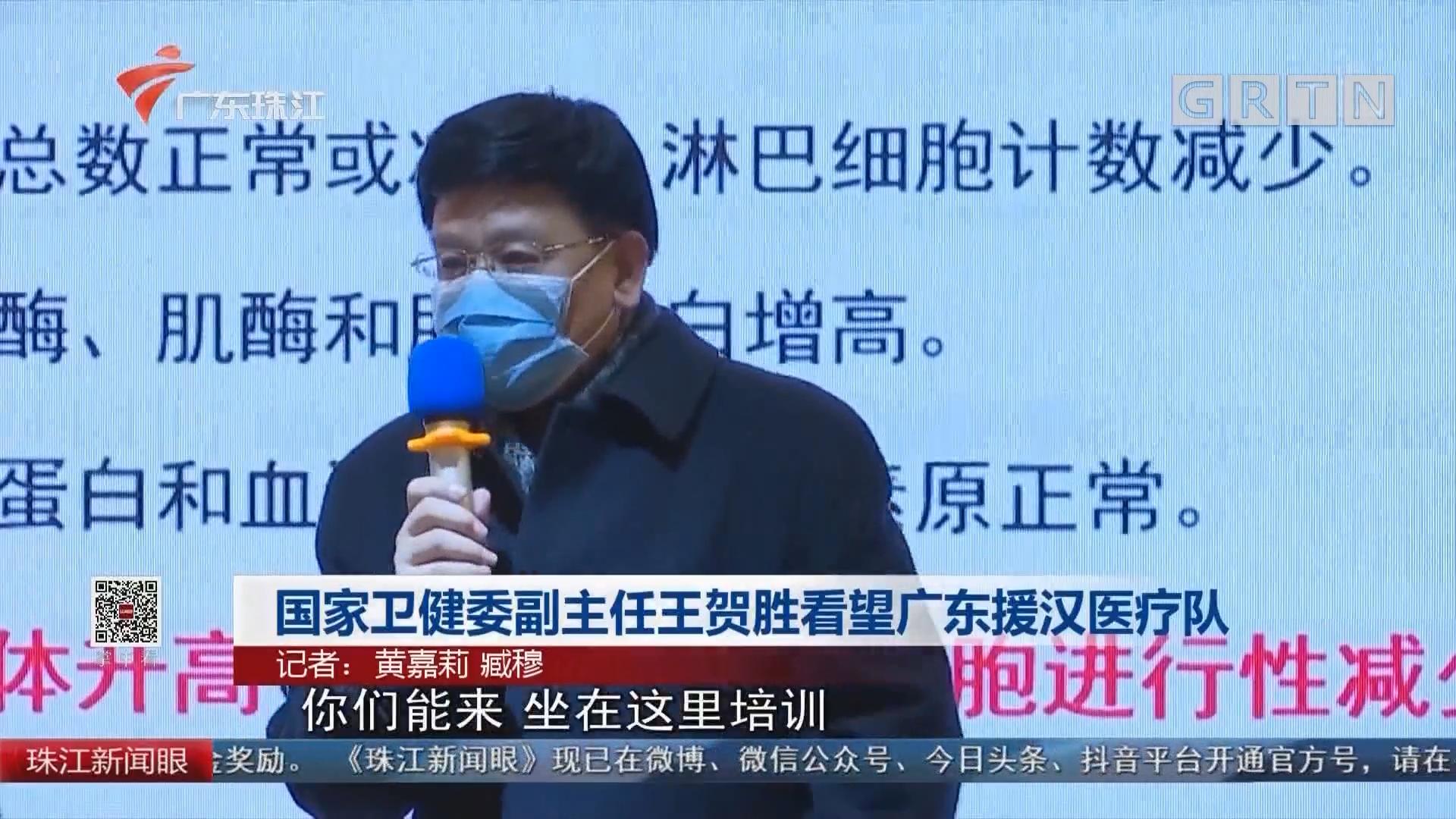 国家卫健委副主任王贺胜看望广东援汉医疗队