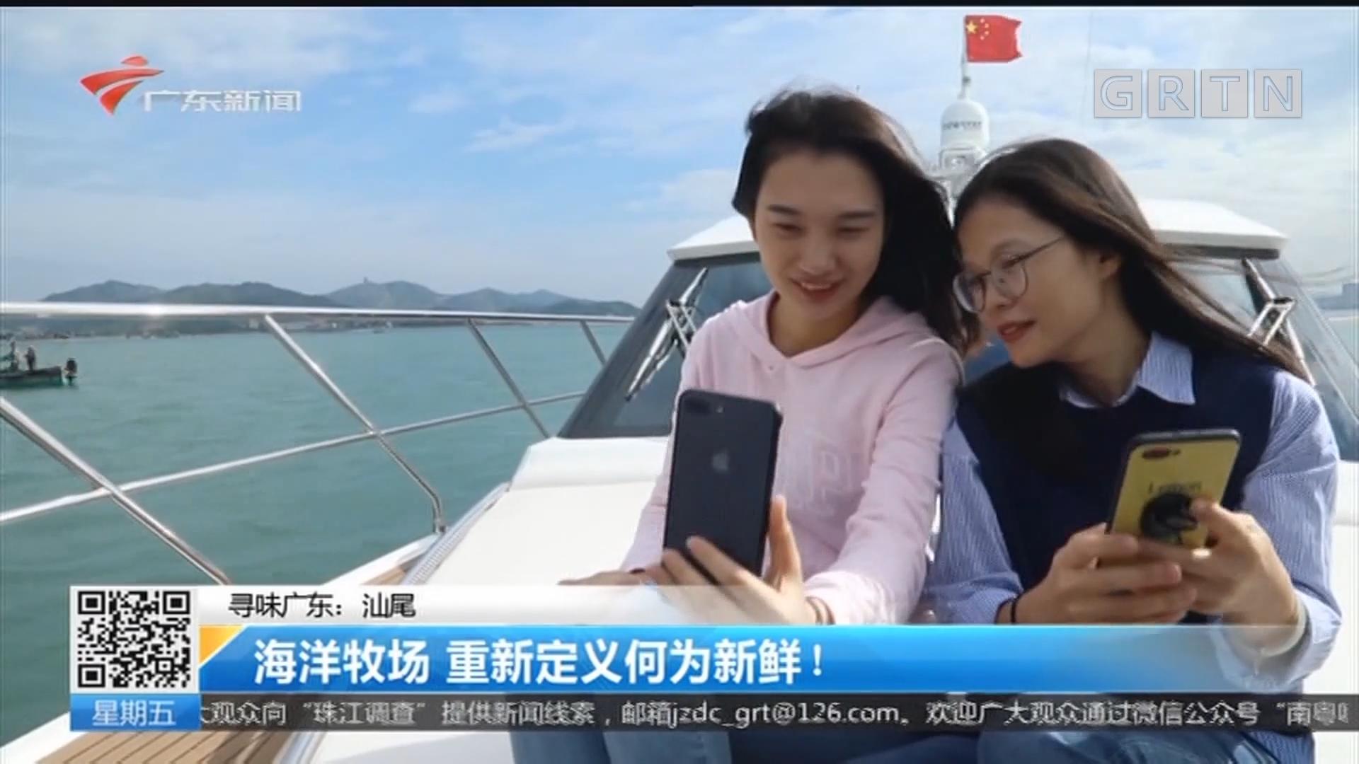 寻味广东:汕尾 海洋牧场 重新定义何为新鲜!