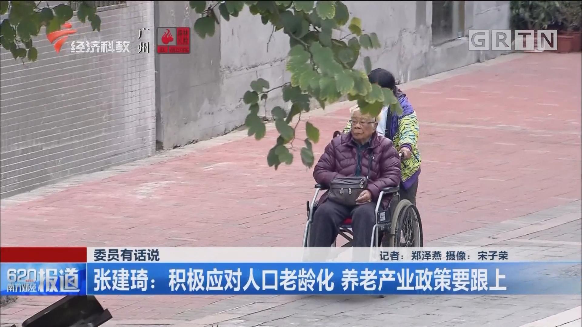 委员有话说 张建琦:积极应对人口老龄化 养老产业政策要跟上