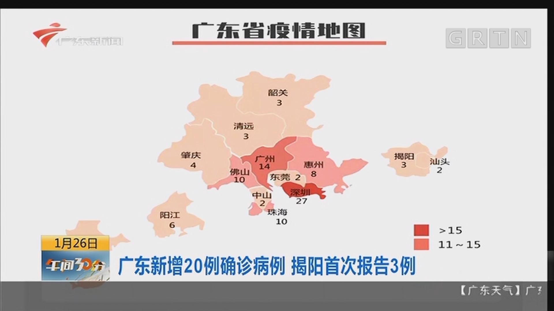 广东新增20例确诊病例 揭阳首次报告3例