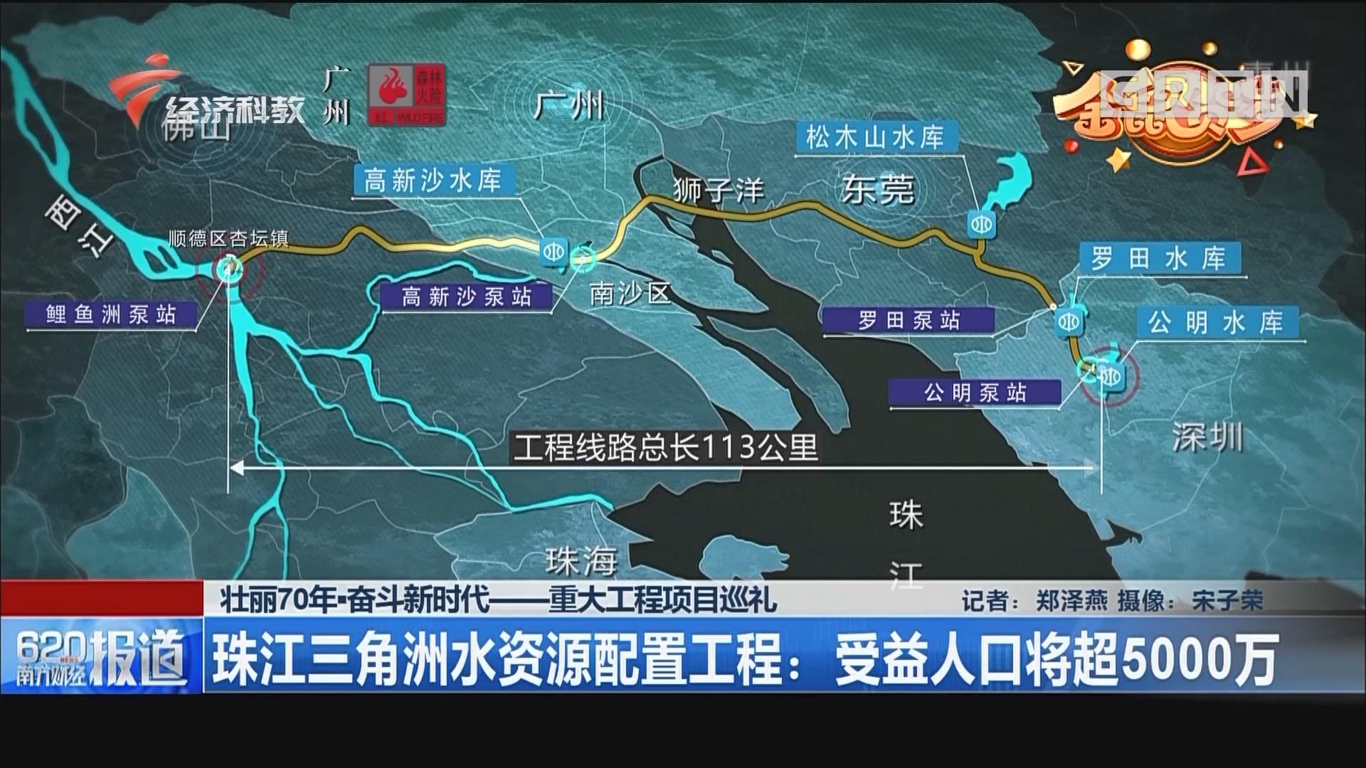 壮丽70年·奋斗新时代-重大工程项目巡礼 珠江三角洲水资源配置工程:受益人口将超5000万