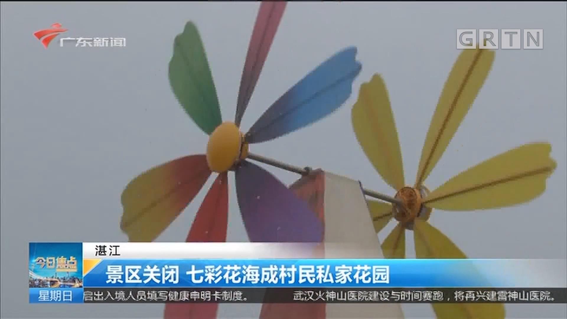 湛江 景区关闭 七彩花海成村民私家花园