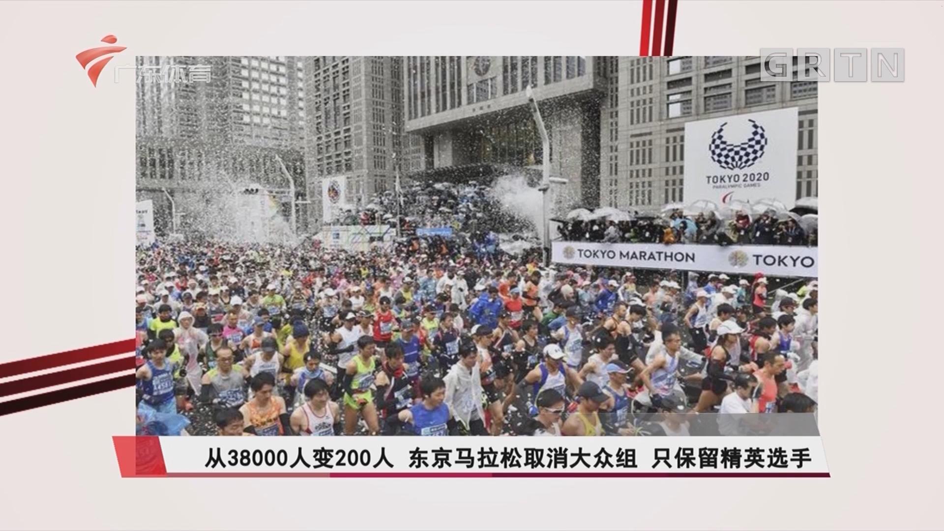 从38000人变200人 东京马拉松取消大众组 只保留精英选手