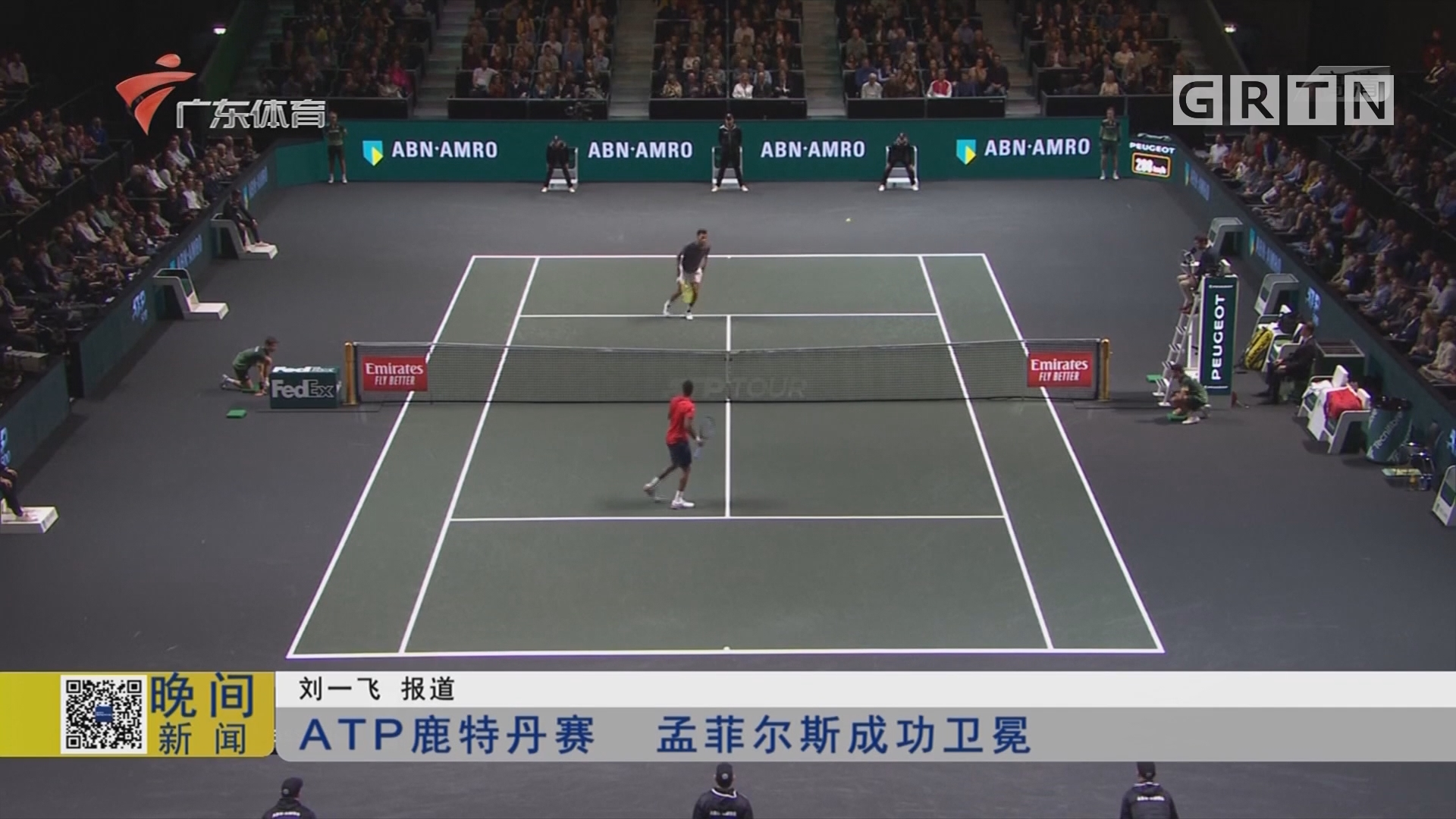 ATP鹿特丹赛 孟菲尔斯成功卫冕