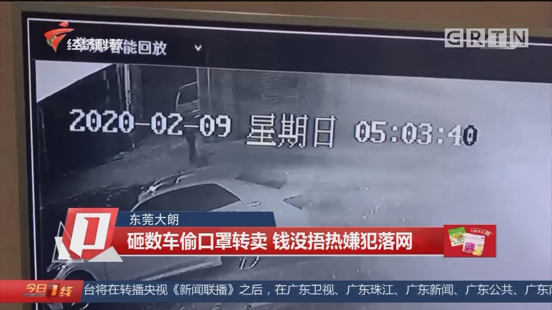 东莞大朗:砸数车偷口罩转卖 钱没捂热嫌犯落网