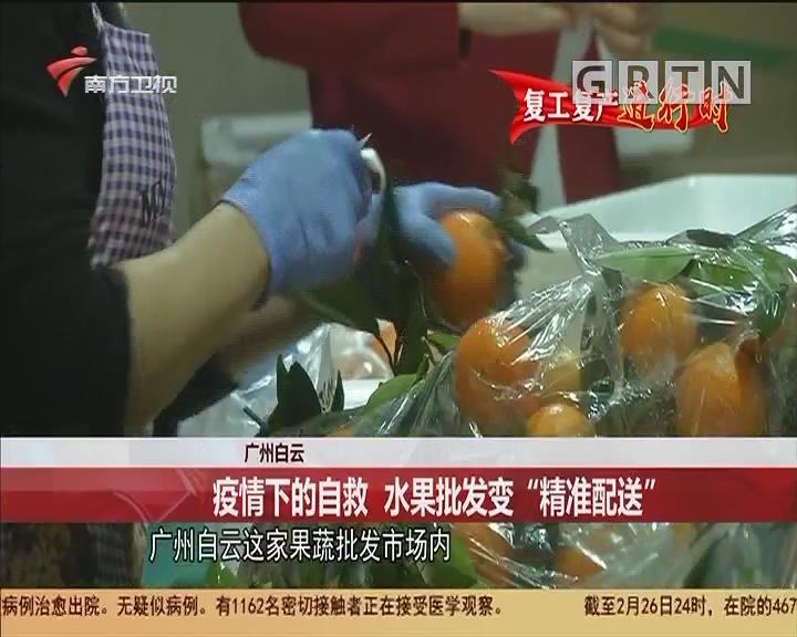 """广州白云:疫情下的自救 水果批发变""""精准配送"""""""