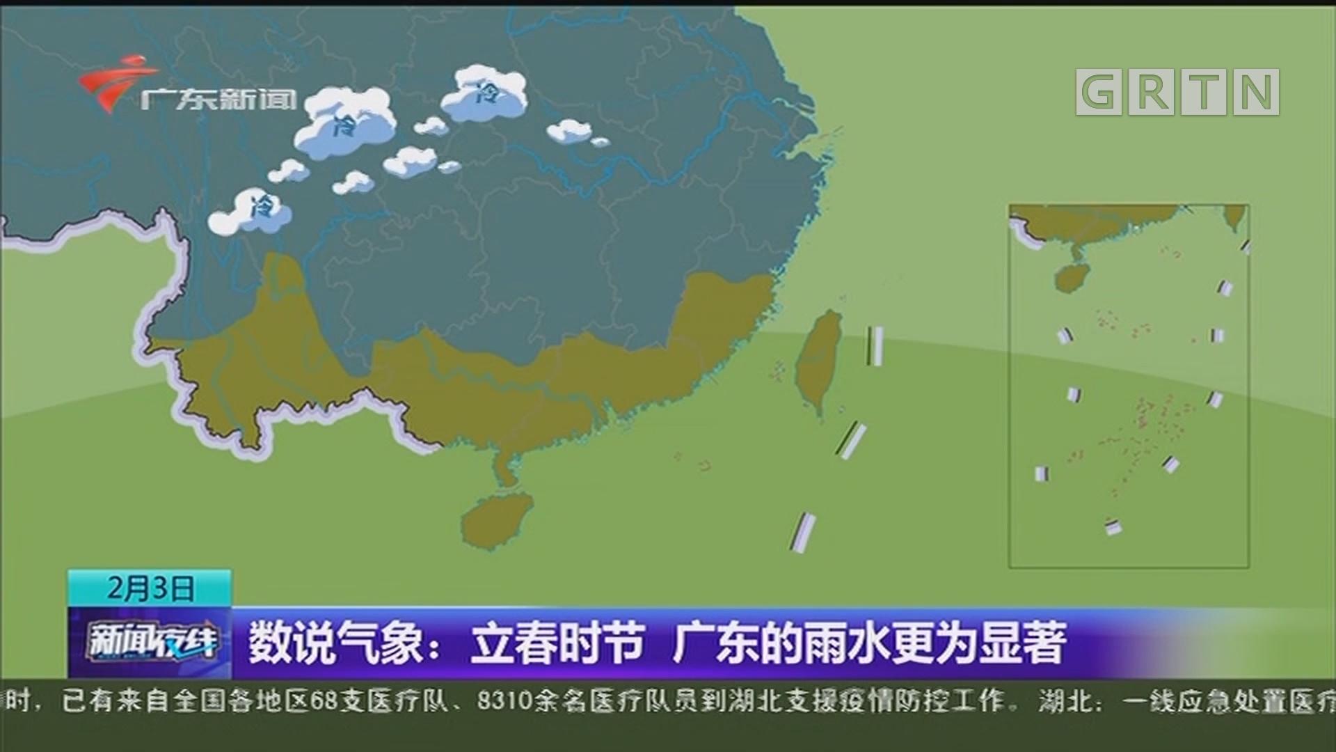 数说气象:立春时节 广东的雨水更为显著