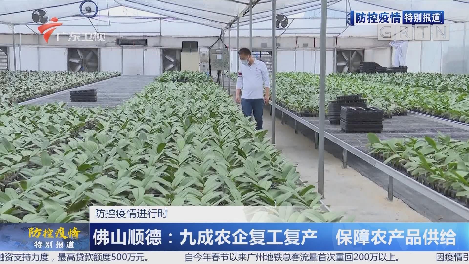 防控疫情进行时 佛山顺德:九成农企复工复产 保障农产品供给