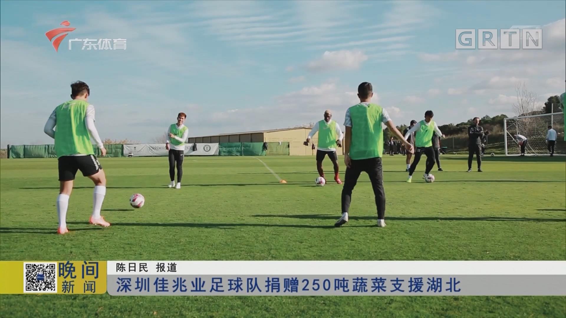 深圳佳兆业足球队捐赠250吨蔬菜支援湖北