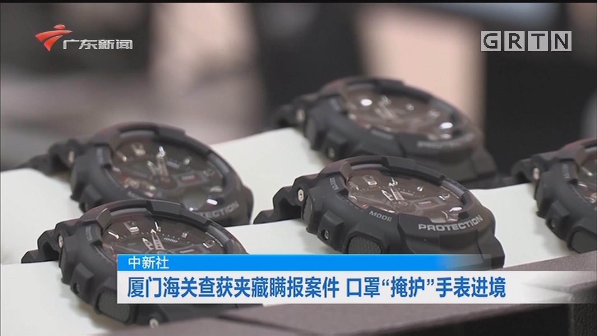 """中新社:厦门海关查获夹藏瞒报案件 口罩""""掩护""""手表进境"""