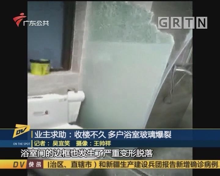 (DV現場)業主求助:收樓不久 多戶浴室玻璃爆裂