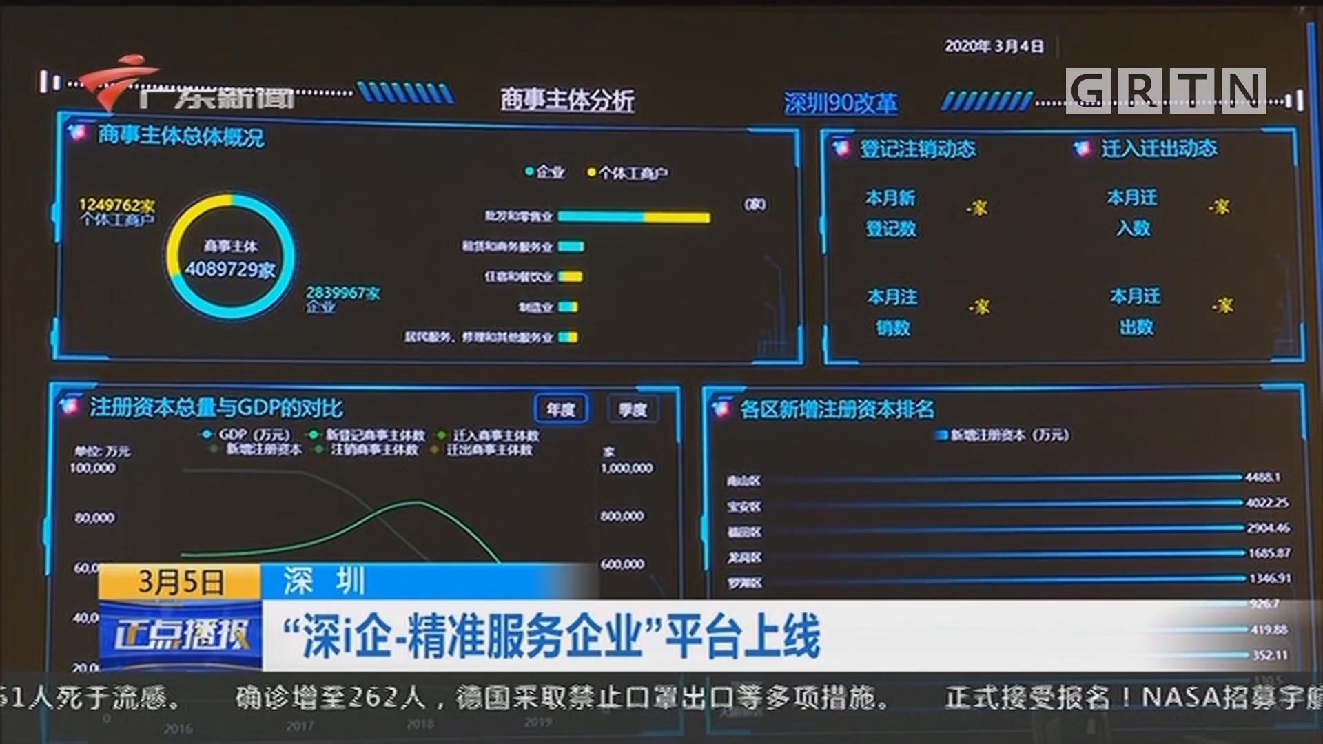 """深圳 """"深i企-精准服务企业""""平台上线"""