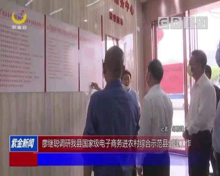 廖继聪调研我县国家级电子商务进农村综合示范县创建工作