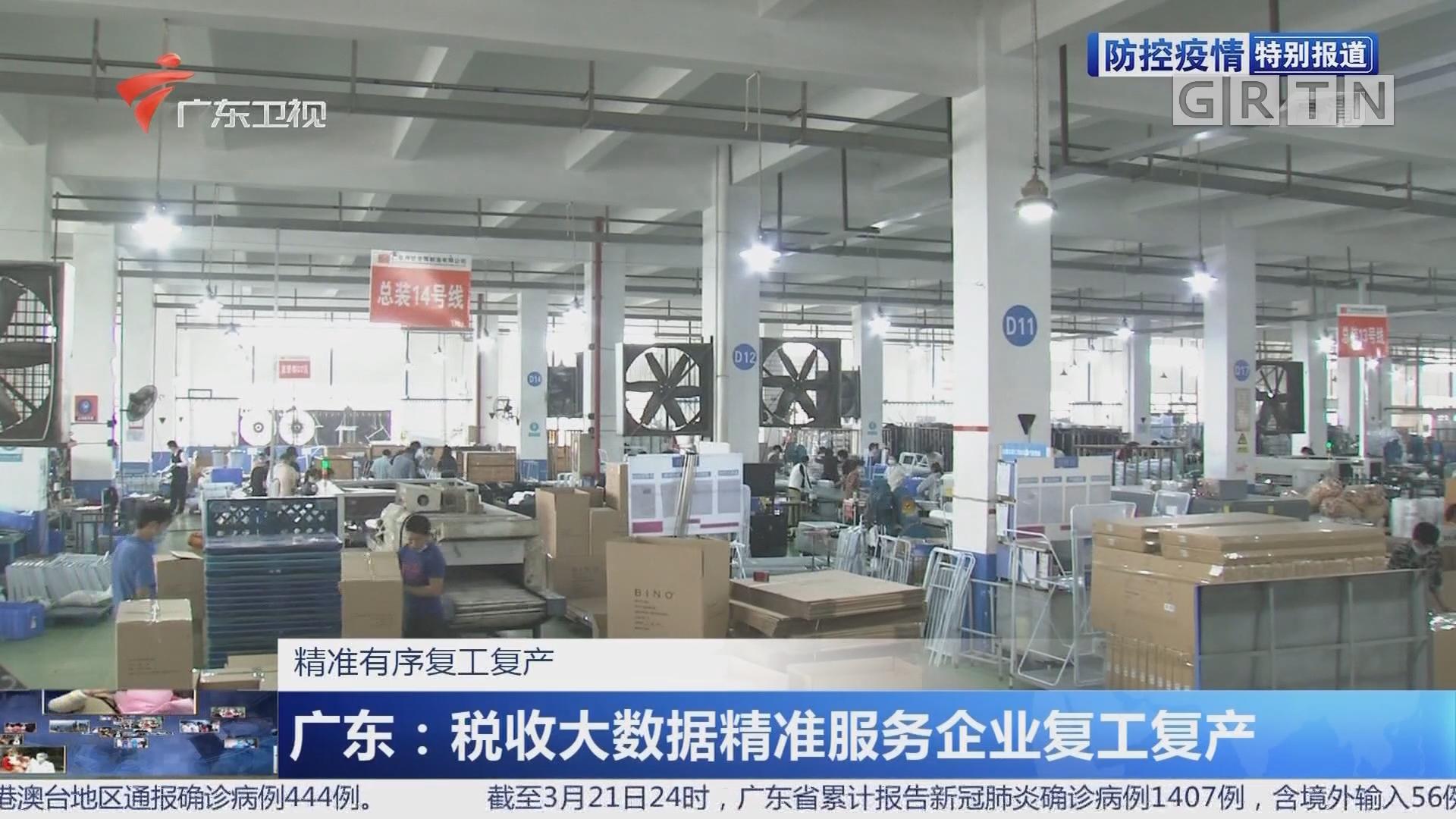 广东:税收大数据精准服务企业复工复产