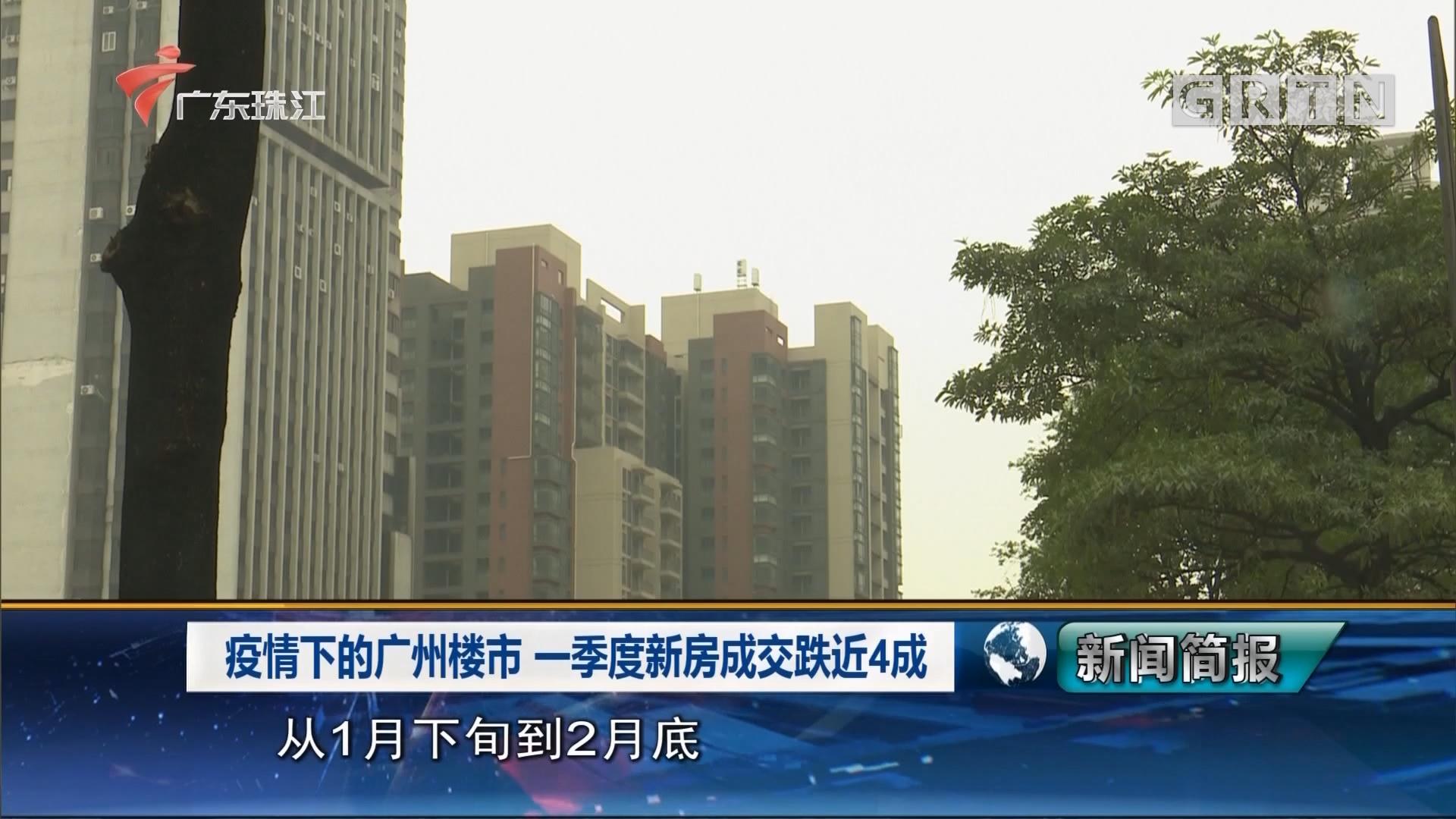 疫情下的广州楼市  一季度新房成交跌近4成