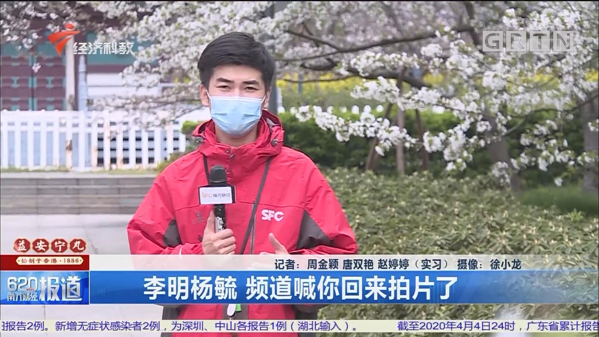 李明杨毓 频道喊你回来拍片了