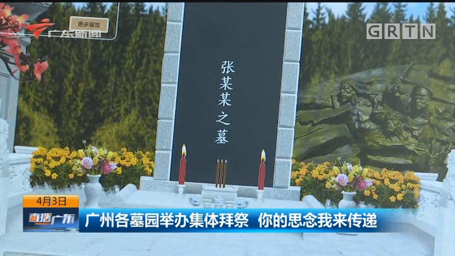 广州各墓园举办集体拜祭 你的思念我来传递