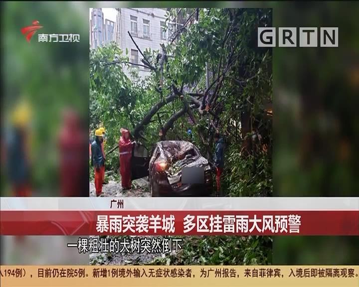 廣州 暴雨突襲羊城 多區掛雷雨大風預警