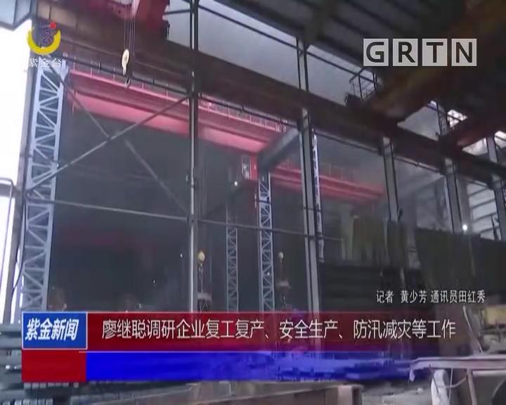 廖继聪调研企业复工复产、安全生产、防汛减灾等工作
