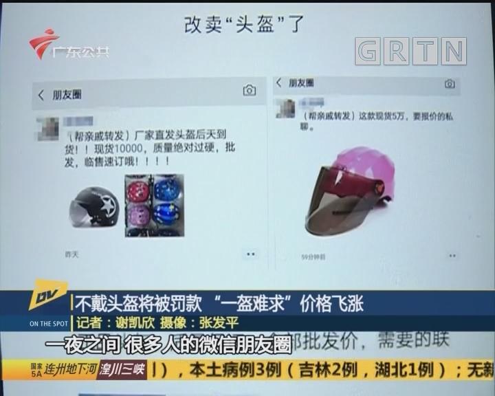 """不戴头盔将被罚款 """"一盔难求""""价格飞涨"""