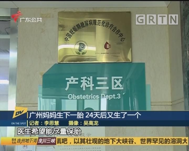 广州妈妈生下一胎 24天后又生了一个