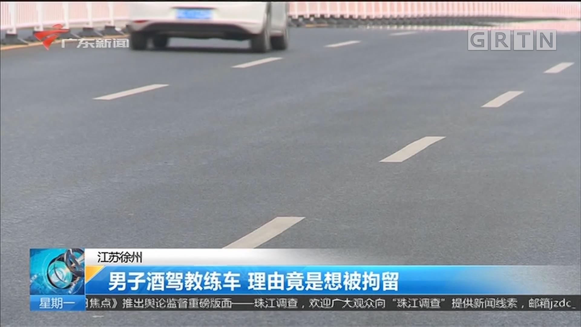 江苏徐州 男子酒驾教练车 理由竟是想被拘留