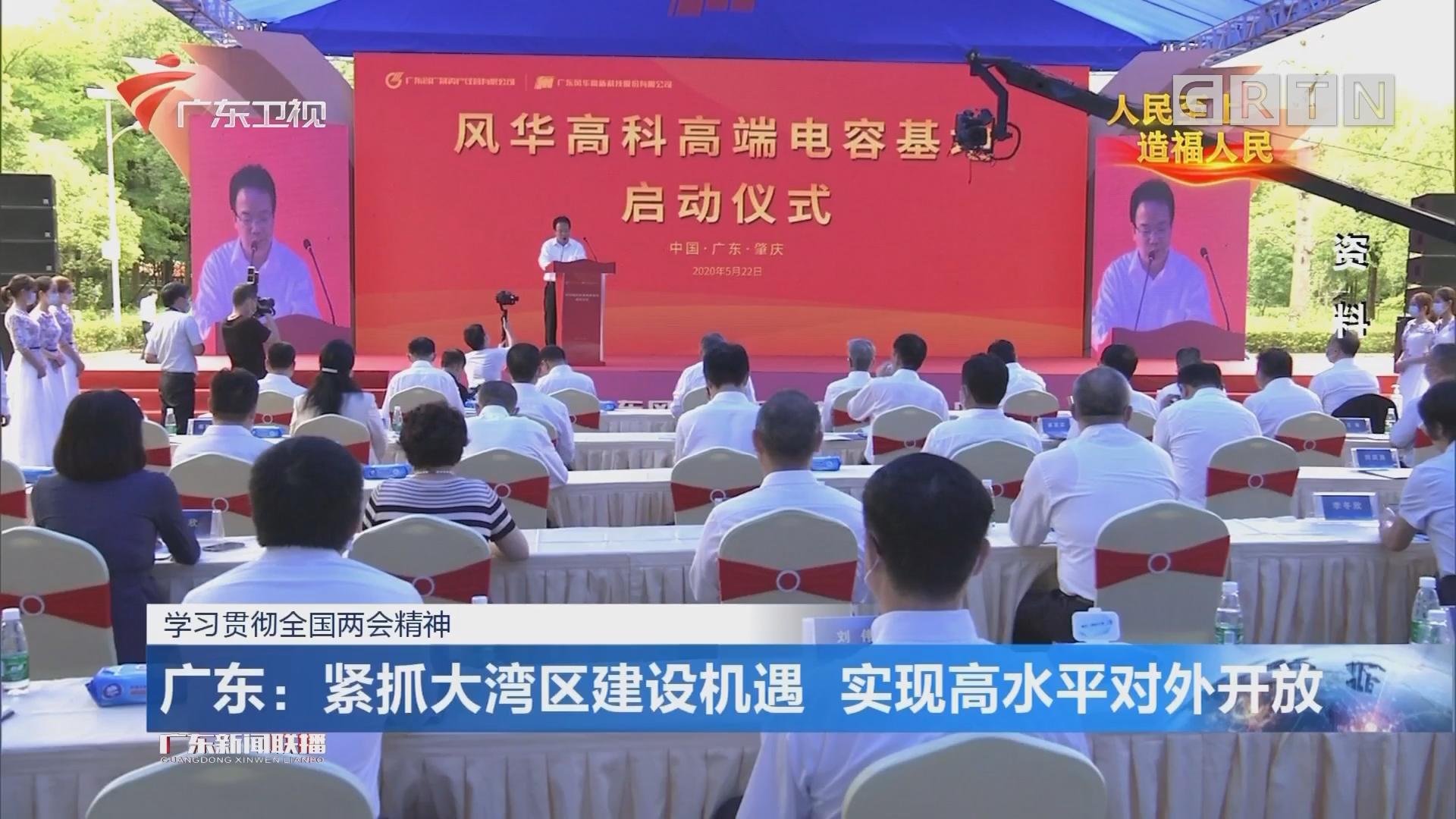 广东:紧抓大湾区建设机遇 实现高水平对外开放