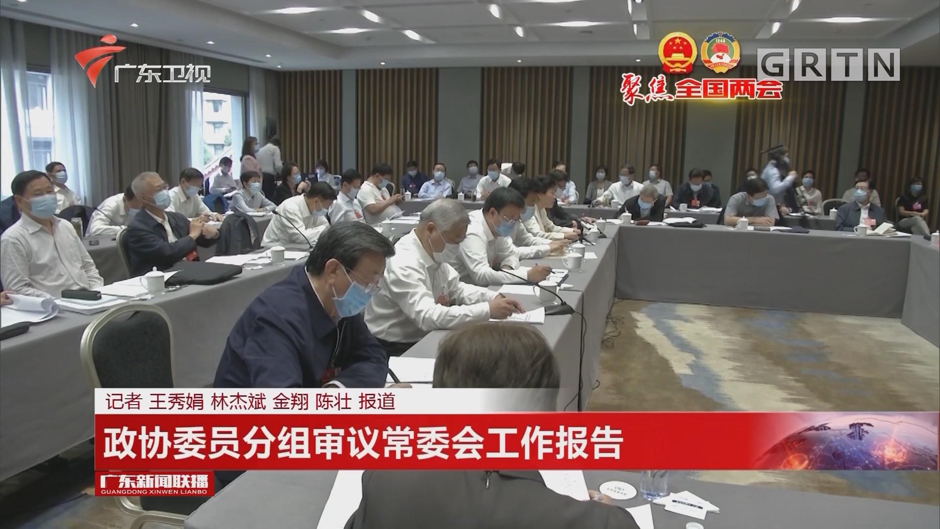 政协委员分组审议常委会工作报告