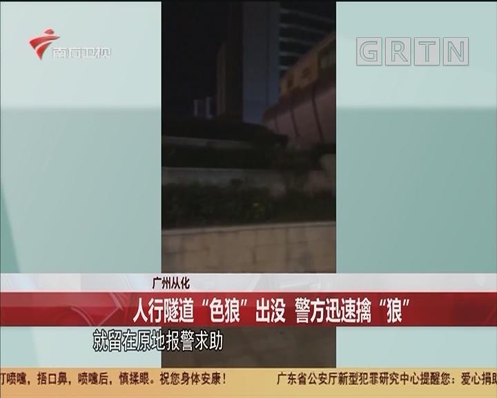 """广州从化 人行隧道""""色狼""""出没 警方迅速擒""""狼"""""""