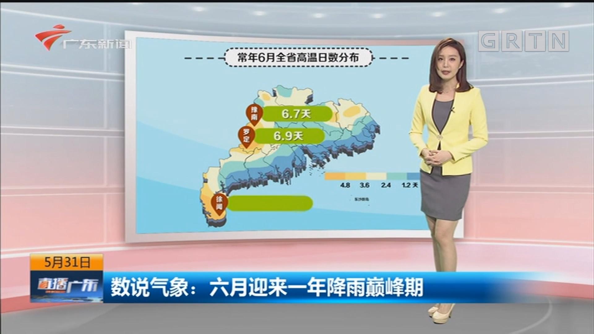 数说气象:六月迎来一年降雨巅峰期