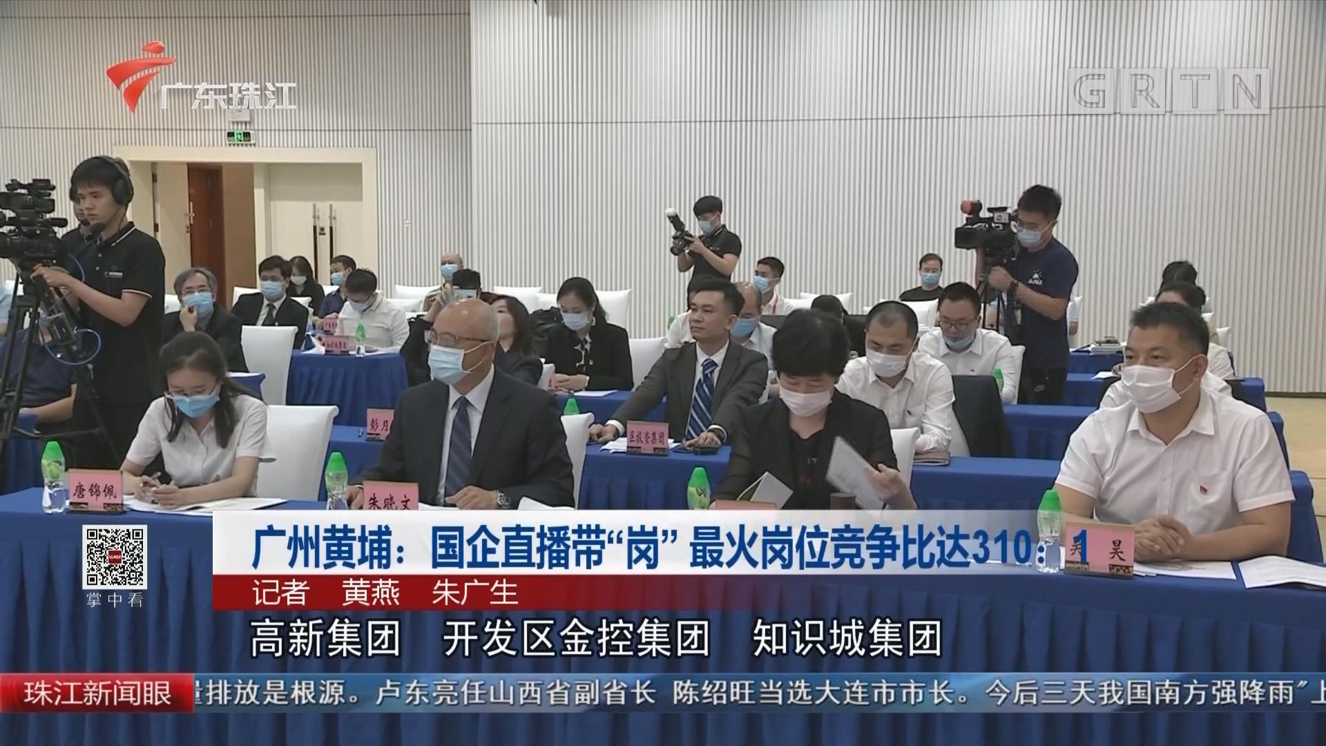 """广州黄埔:国企直播带""""岗"""" 最火岗位竞争比达310:1"""