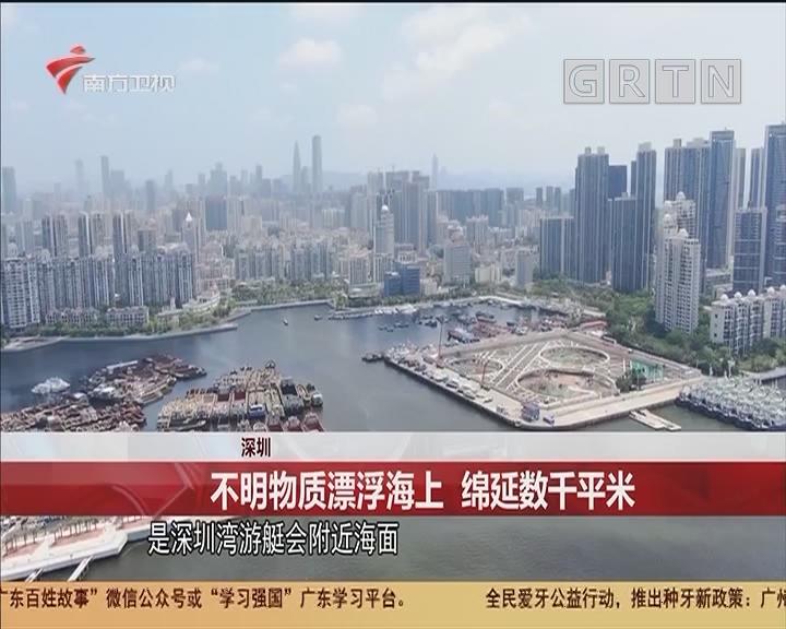 深圳 不明物質漂浮海上 綿延數千平米