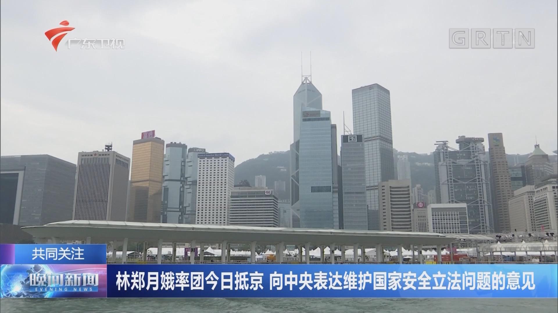 林郑月娥率团今日抵京 向中央表达维护国家安全立法问题的意见