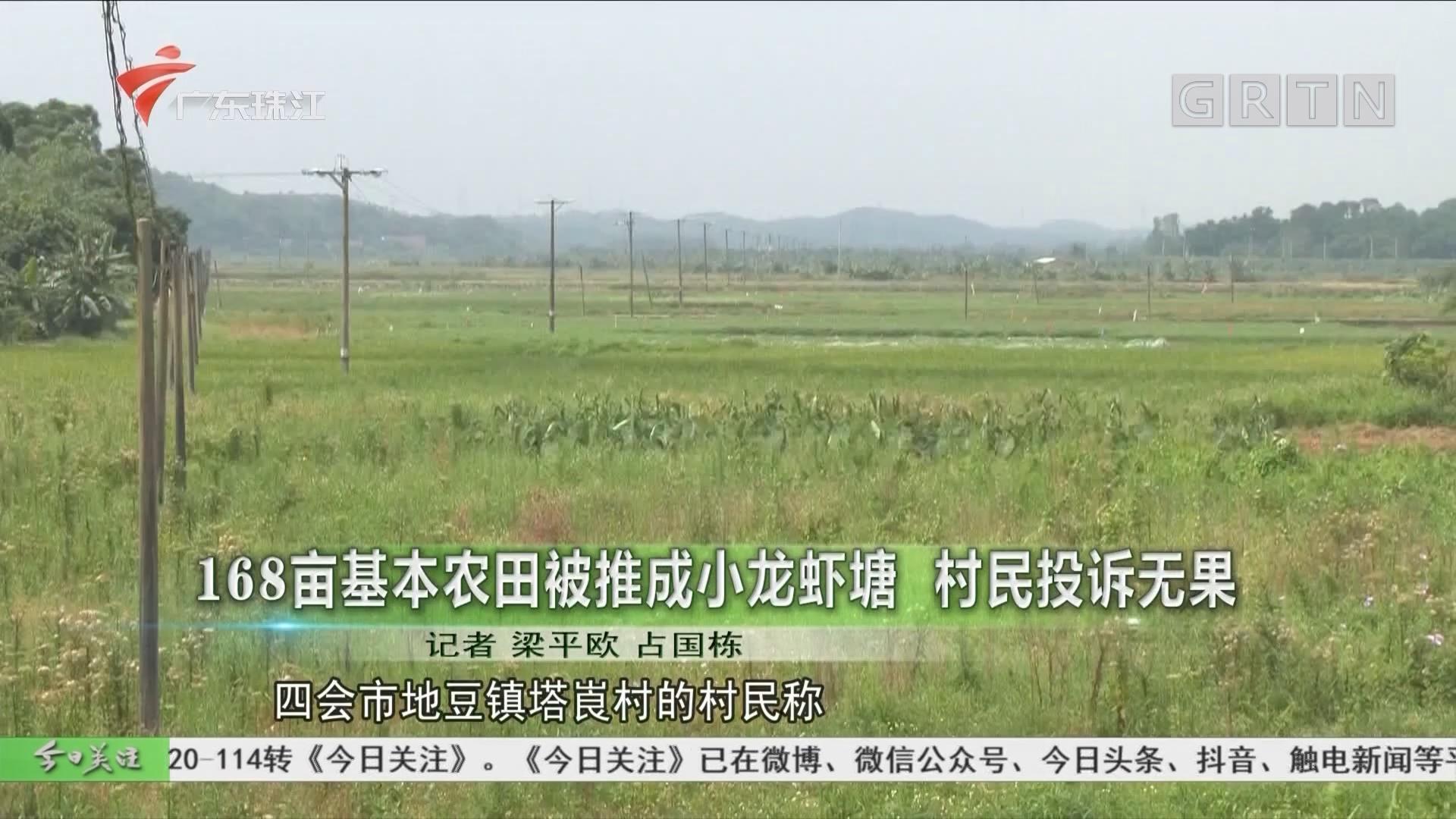 168亩基本农田被推成小龙虾塘 村民投诉无果