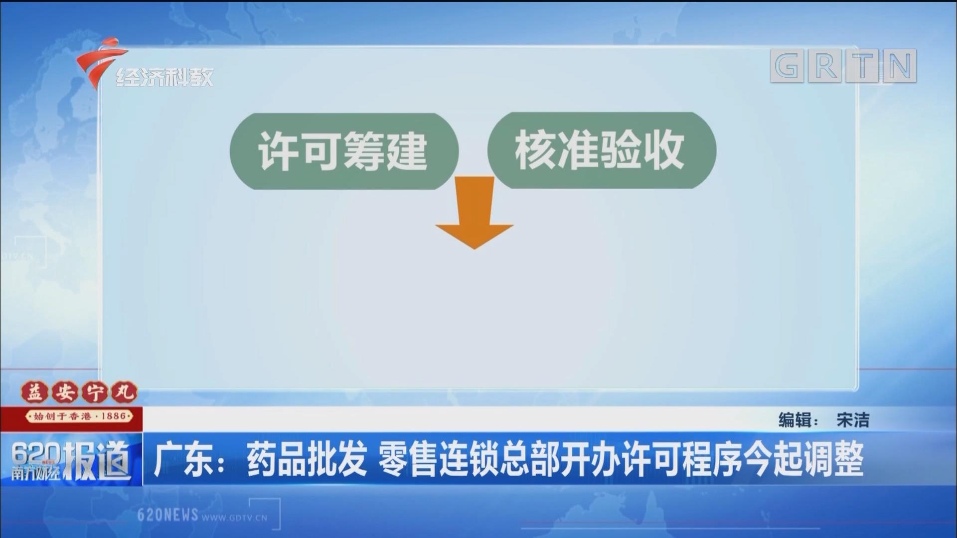 广东:药品批发 零售连锁总部开办许可程序今起调整