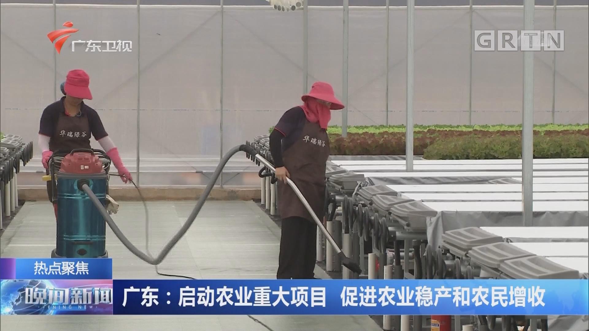 广东:启动农业重大项目 促进农业稳产和农民增收