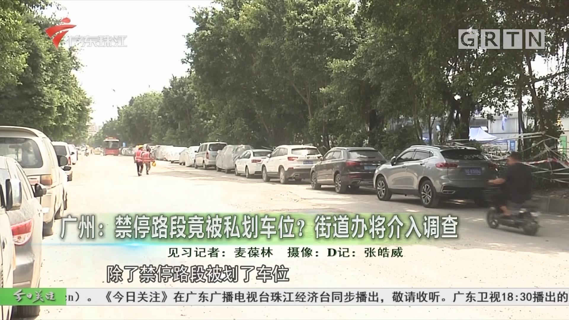 广州:禁停路段竟被私划车位?街道办将介入调查