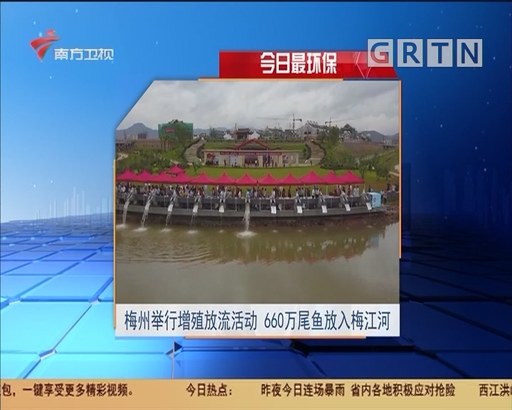 今日最环保 梅州举行增殖放流活动 660万尾鱼放入梅江河