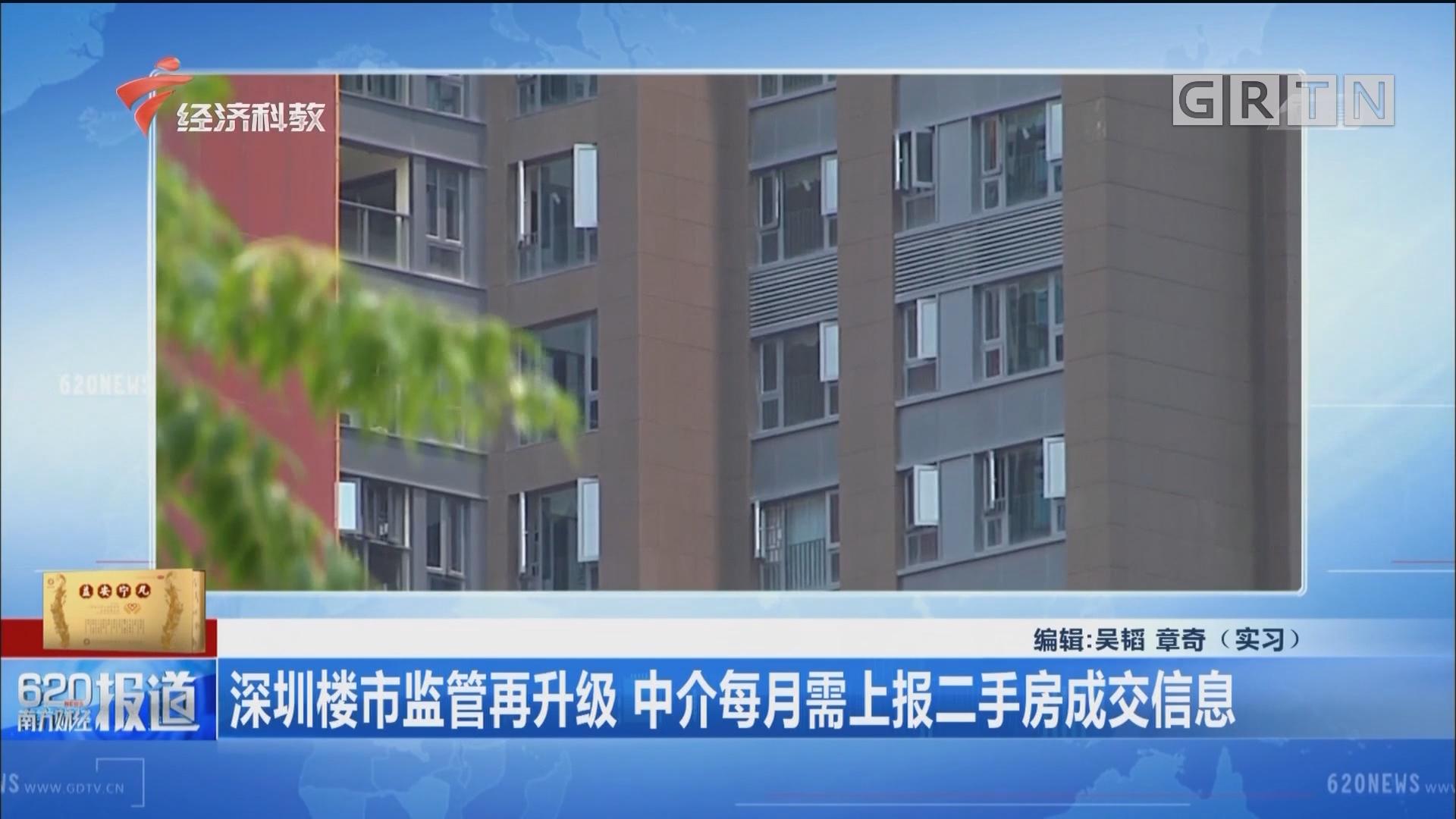 深圳楼市监管再升级 中介每月需上报二手房成交信息